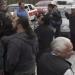Manifestantes bloquean calles en la ciudad de México