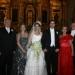 Los ahora esposos con sus padres Raúl Bolaños Cacho Guzmán, Ma. del Socorro Cué de Bolaños Cacho, Enrique Gutiérrez Möller y Paz Martínez de Gutiérrez.