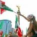Ángel de la Independencia...aficionados festejan triunfo del TRI