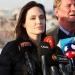 Angelina Jolie...denunció la falta de apoyo a víctimas en Irak