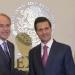 Peña...recibió a Carreras López gobernador electo de SLP
