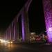 Querétaro... encienden la iluminación en color rosa de Los Arcos