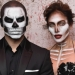 Jennifer López y Casper Smart...aterradores esqueletos en Halloween