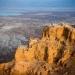 Masada...fortaleza situada a 400 metros sobre el nivel del Mar Muerto