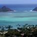 Hawai...Lanikai playa de arena dorada en las islas Na Mokulua