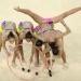 Rusia...ganó la medalla de oro en gimnasia rítmica