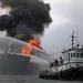 Bajo control incendio del buque BT Burgos de Petróleos Mexicanos