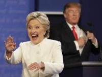 Clinton fue considerada ganadora por 52% de los estadunidenses
