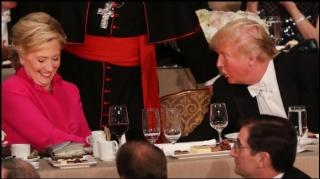 Clinton y Trump...comparten la sal y el vino en cena de caridad