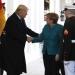 Trump..recibió a la canciller alemana Angela Merkel en la Casa Blanca