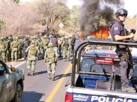 Enfrentamiento con presuntos delincuentes en San José del Cabo