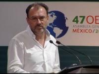 Videgaray...clausuró fracasada reunión de la OEA