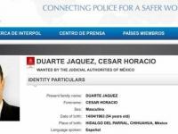 Cesar Duarte...le fue girada ficha roja por la Interpol