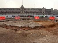 El zócalo de Monumento a la Independencia que se quedó en esbozo