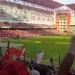 Peña.. inauguró el nuevo estadio de futbol Nemesio Diez