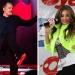 Miguel Bosé y Thalía..en los Grammy para anunciar ganadores