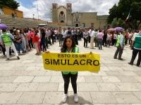 Refuerza Gobierno capitalino cultura de prevención con simulacro de sismo