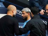 Salen chispas entre Guardiola y Agüero
